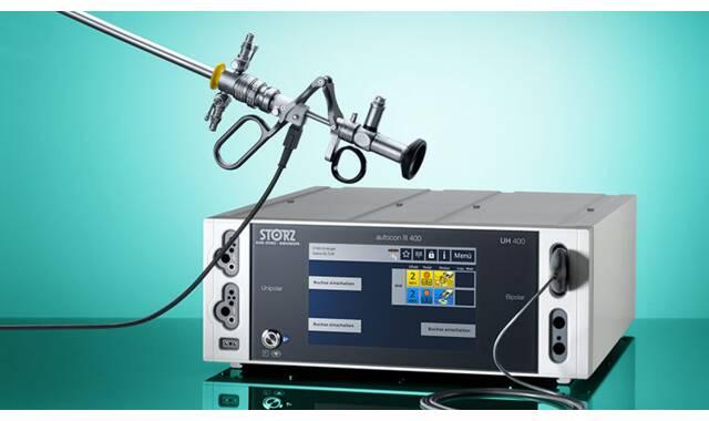 Bipolaire resectie, het complete systeem en diverse elektrodes
